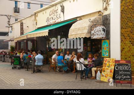 Calle Gines de Castro y Alvarez street, Arrefice, Lanzarote, Canary Islands, Spain, Europe - Stock Photo