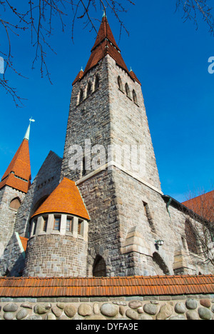 Tampereen tuomiokirkko, Tampere Cathedral (1907), Tampere, central Finland, Europe - Stock Photo