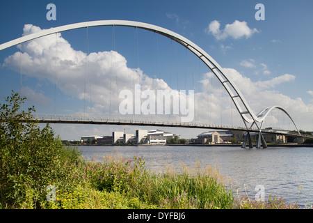 The Infinity Bridge, Stockton-on-Tees, England - Stock Photo