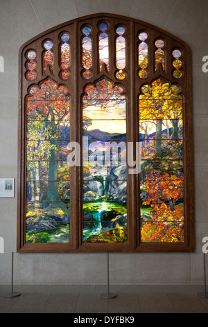Autumn Landscape c1923 by Louis Comfort Tiffany, in The Metropolitan Museum of Art, New York - Stock Photo