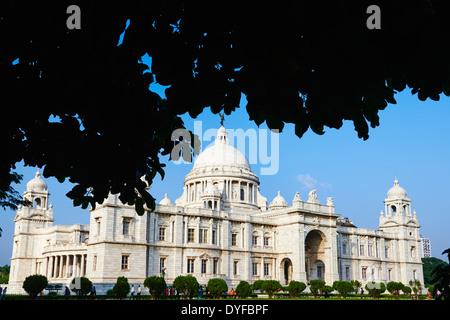 India, West Bengal, Kolkata, Calcutta, Chowringhee, Victoria Memorial - Stock Photo