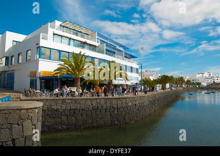 Charco de San Gines lake, Arrecife, Lanzarote, Canary Islands, Spain, Europe - Stock Photo