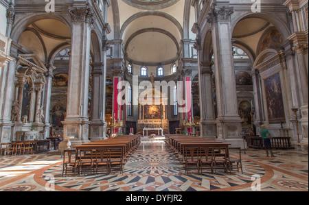 VENICE, ITALY - MARCH 12, 2014: Church chiesa di Santa Maria del Giglio. - Stock Photo