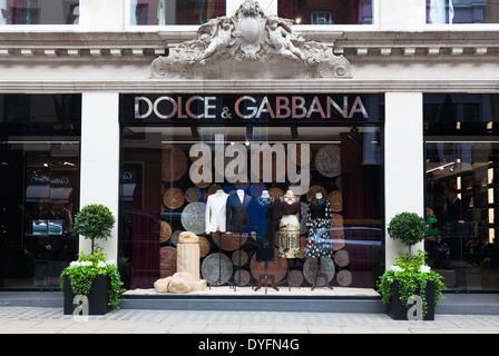 Dolce & Gabbana, Old Bond Street, London, UK. - Stock Photo