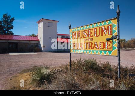 USA, Nebraska, Chadron, Museum of the Fur Trade exterior - Stock Photo