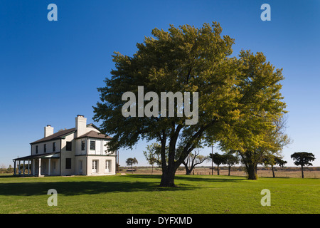 USA, Oklahoma, El Reno, Fort Reno, former Indian Wars military outpost and POW camp for German prisoners in WWII - Stock Photo