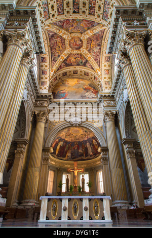 BOLOGNA, ITALY - MARCH 15, 2014: Presbytery of Dom or Saint Peters baroque church. - Stock Photo
