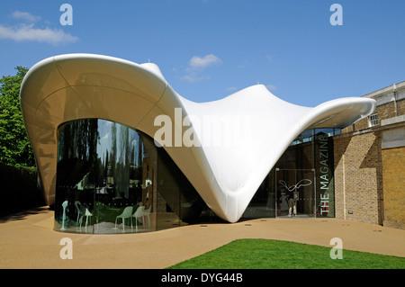 The Magazine Restaurant designed by Zaha Hadid, Serpentine Sackler Gallery London England Britain UK - Stock Photo