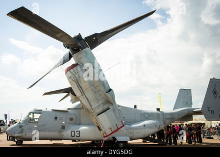 DH-46 Tiltrotor military aircraft from the 1950s at British airshow Stock Photo