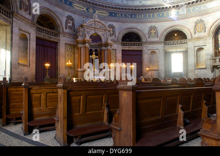 Interior of Amalienborg Marmorkirken church, Marble Church or Frederik's Church, Copenhagen, Denmark, Scandinavia, - Stock Photo