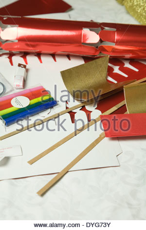 Christmas cracker making kit stock photo 186063755 alamy do it yourself christmas cracker making kit stock photo solutioingenieria Image collections