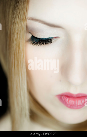 Gesicht einer attraktiven, blonden Frau, 20+ - woman face, 25+ - Stock Photo