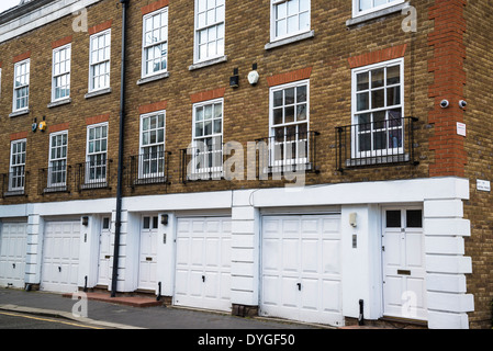 New terrace houses, Bermondsey Wall East Street, Southwark, London, UK - Stock Photo