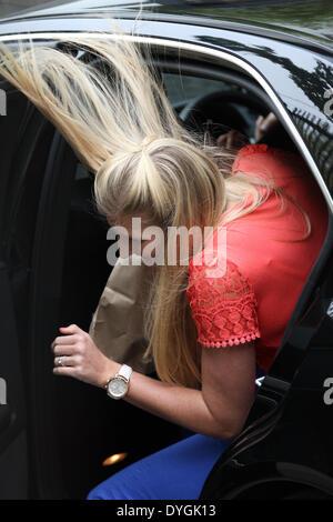 London, UK,17th April 2014. Rebecca Adlington seen at the ITV studios on the SouthBank - Stock Photo