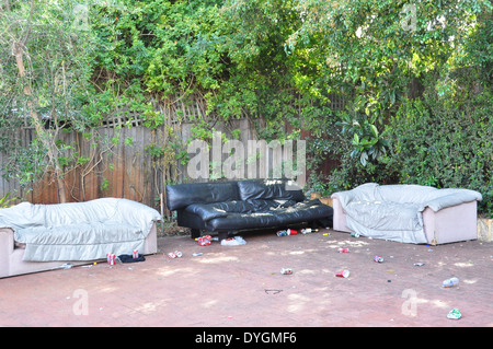 The day after a teenagers' party. - Stock Photo