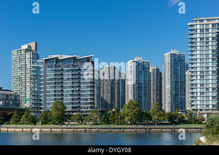 New apartment buildings in Downtown Vancouver - Stock Photo