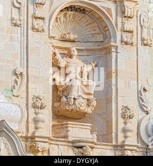 Poblet  in Spain  near Barcelona. Monastery of Santa Maria de Poblet is UNESCO world heritage site. - Stock Photo