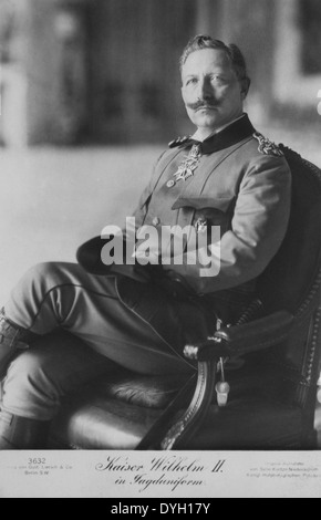 Wilhelm II (1859-1941), Emperor of Germany and King of Prussia (1888-1918), Portrait, circa 1914 - Stock Photo