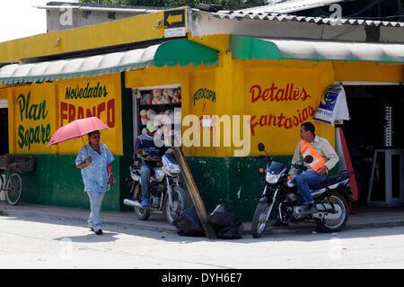 Scene from Aracataca in February 2012. Literature nobel prize winner Gabriel Garcia Marquez was born on 06 March - Stock Photo