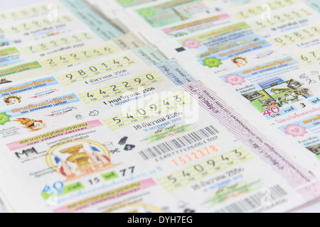 Thai lottery is the biggest award in Thailand - Stock Photo