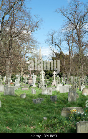 Brompton Cemetery, Royal Borough of Kensington and Chelsea, London, UK. - Stock Photo