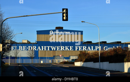 Riesa, Gröda, Elbe Drahtwerke Feralpi GmbH - Stock Photo