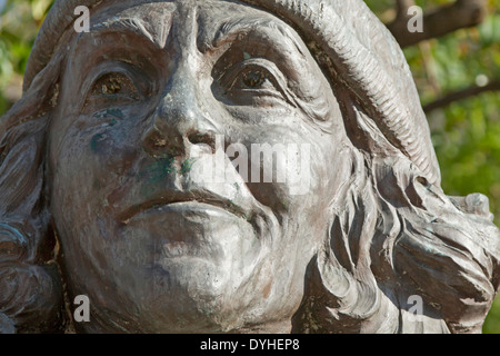 Sculpture of Carmen Martin Gaite ( 8 December 1925 – 22 July 2000 ), an award winning Spanish author and born in - Stock Photo