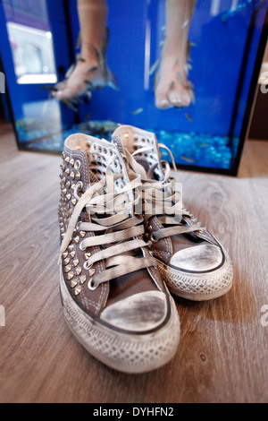 Pedicure stock photo royalty free image 10821929 alamy for Fish pedicure los angeles