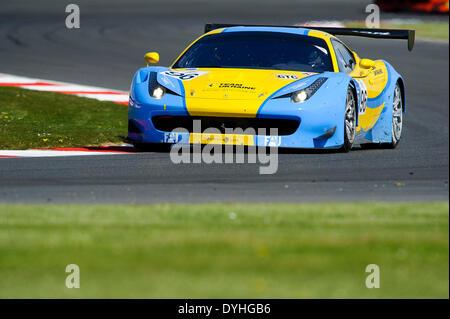 Northampton, UK. 18th Apr, 2014. #96 Team Ukraine ferrari 458 Italia GT3 in action during the first Free Practice - Stock Photo