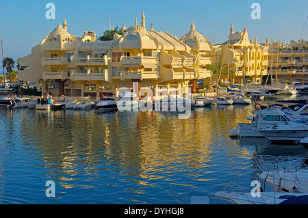 Puerto Marina yacht harbour , Benalmadena. Malaga province, Costa del Sol, Andalusia, Spain - Stock Photo