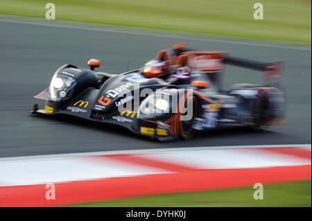 Northampton, UK. 18th Apr, 2014. #26 G-Drive Racing Morgan - Nissan of Roman Rusinov (RUS), Olivier Pla (FRA), Julien - Stock Photo