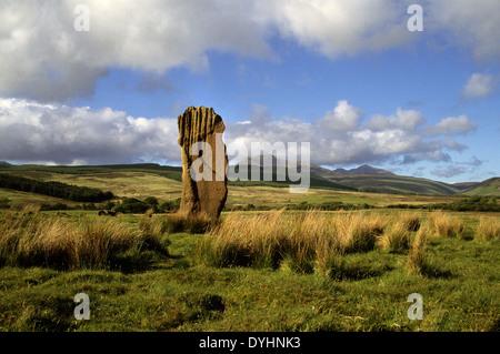 Standing Stones, Machrie Moor, Isle of Arran - Stock Photo