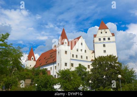 Ingolstadt, New Castle , Neues Schloss castle, Upper Bavaria, Bavaria, Germany, - Stock Photo