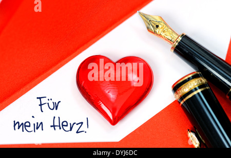 Valentinstagsbrief Und Herz · Valentinstagsbrief Und Herz   Stock Photo