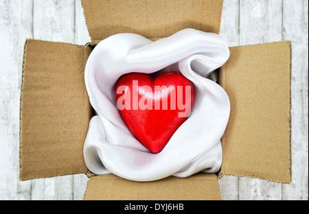 Herz in einem Paket, Valentinstag