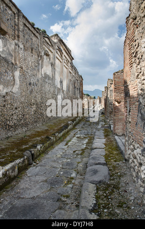 Street in the ruined city of pompeii Stock Photo: 36282563 ...
