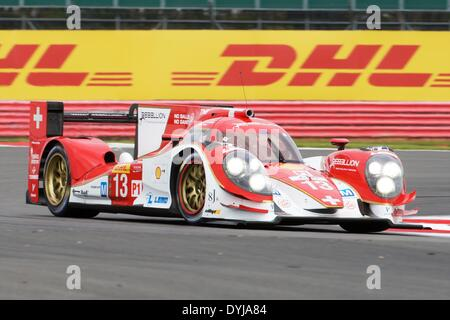 Silverstone, UK. 19th Apr, 2013. REBELLION RACING Lola B12/60-Toyota LMP1 driven by Dominik Kraihamer (AUT), Andrea - Stock Photo