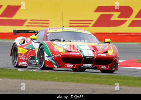 Silverstone, UK. 19th Apr, 2013. AF CORSE Ferrari F458 Italia LMGTE Pro driven by Davide Rigon (ITA) and James Calado - Stock Photo