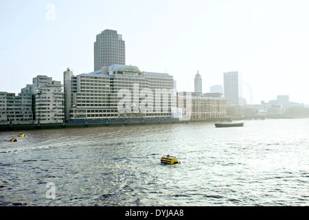 Biew of the Sea Containers House next to the OXO Tower in the South bank of the River Thames in the city of London, - Stock Photo