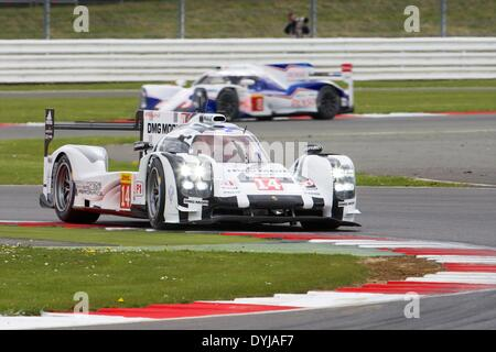 Silverstone, UK. 19th Apr, 2013. PORSCHE TEAM Porsche 919 Hybrid LMP1 driven by Romain Dumas (FRA), Neel Jani (CHE) - Stock Photo