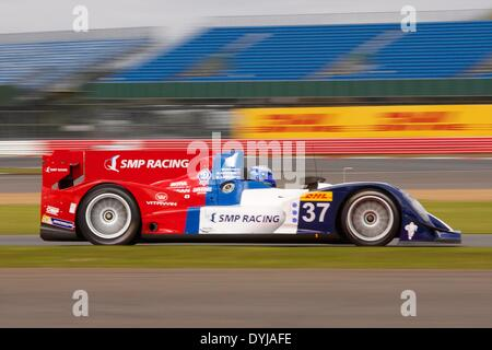 Silverstone, UK. 19th Apr, 2013. SMP RACING Oreca 03-Nissan LMP2 driven by Kirill Ladygin (RUS), Viktor Shaitar - Stock Photo