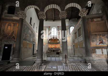 italy, rome, celio, church of santo stefano rotondo, chapel of the Saints Primus and Felician, frescos by Antonio - Stock Photo