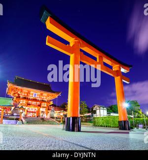 Fushimi Inari Taisha Shrine in Kyoto, Japan. - Stock Photo