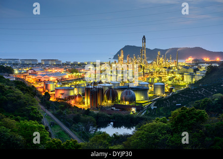 Oil Refineries in Wakayama, Japan. - Stock Photo