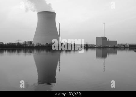 Atomkraftwerk Ohu bei Landshut, Bayern, Deutschland - Stock Photo
