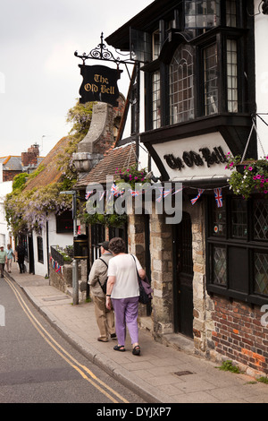 UK, England, East Sussex, Rye, High Street, The Old Bell public house - Stock Photo