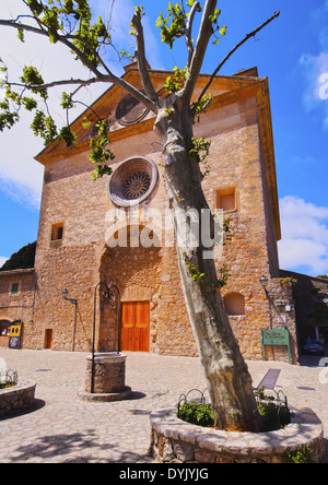 Church in Valldemossa on Mallorca, Balearic Islands, Spain - Stock Photo