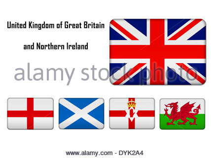 english scottish welsh and northern ireland flags on