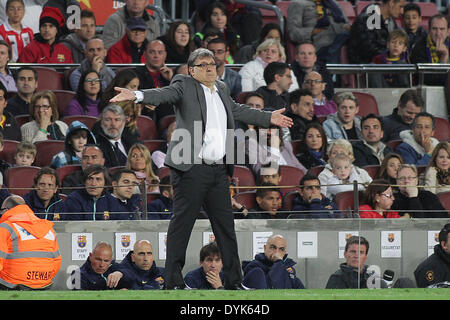Barcelona, Spain. 20th Apr, 2014. Martino during the spanish league match between FC. Barcelona and Athletic de - Stock Photo