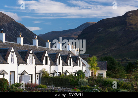 fishermans cottages at catacol aka the twelve apostles - Stock Photo